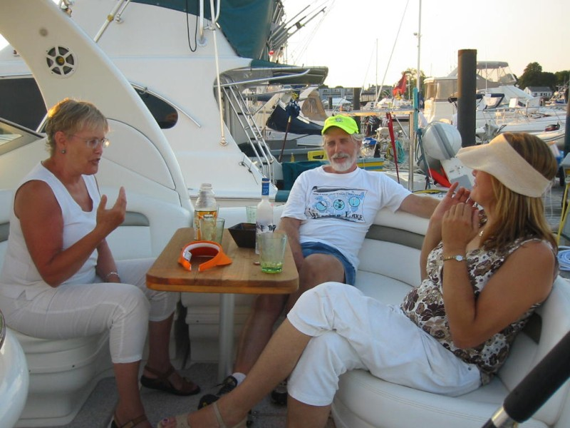 Drinks on the Afterdeck with Betty and Arnold