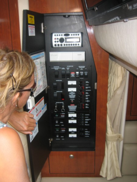 Electrical Panel (5 kw generator, Clarion stereo with Sirius, DirectTV)
