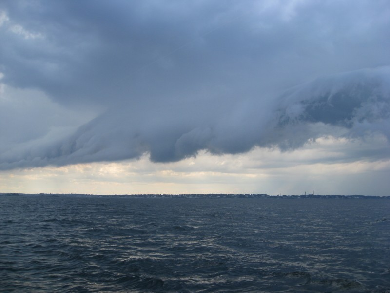 We sailed through this front and were almost hit by lightning