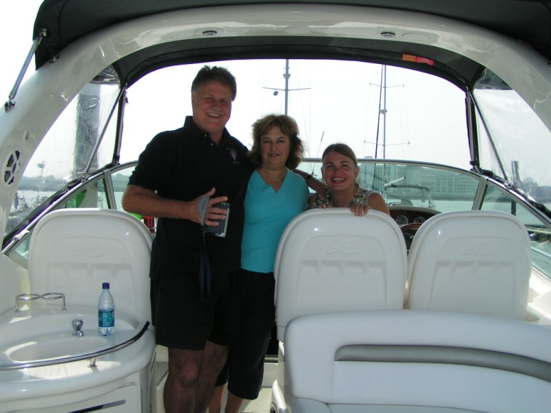 Tad and Gail, official boat documentary team