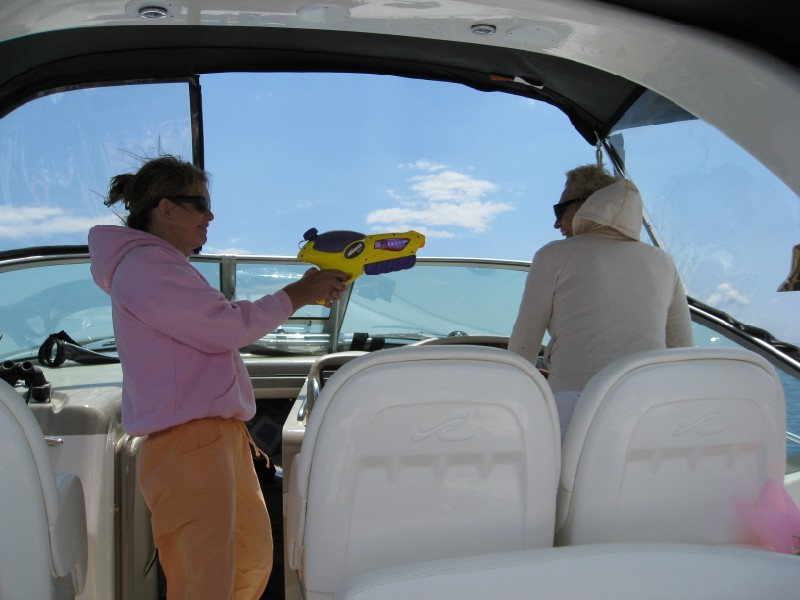 Me hijacking Captain Frances to Wellfleet for Summerfest 2008
