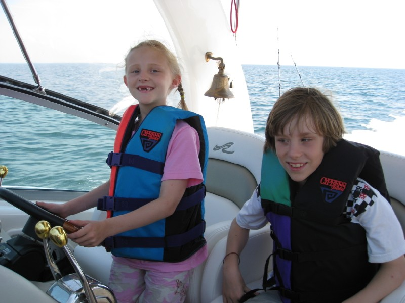Lucy and Jack at the Helm