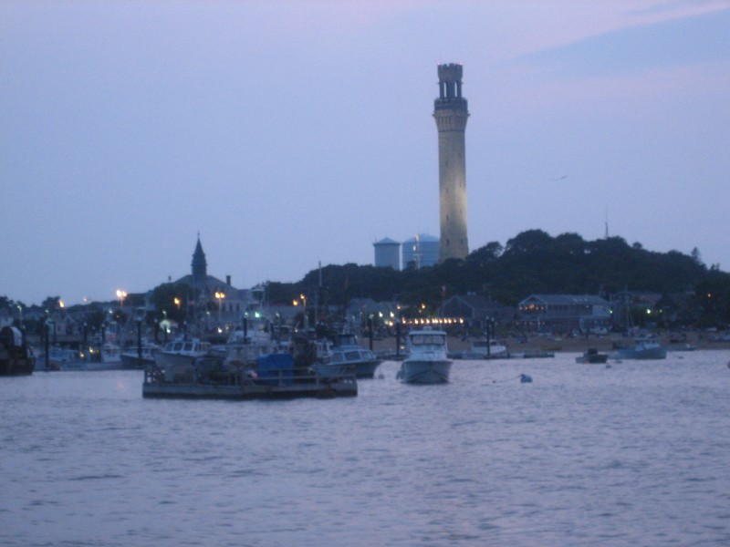 Provincetown at Dusk, July 4, 2008